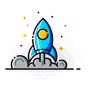 Mission Promotion Rocket Icon