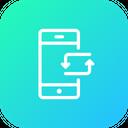 Mobile Data Synchronize Icon