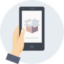 Mobile Hand Box Icon