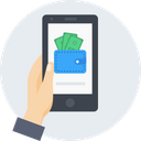 Mobile Hand Wallet Icon