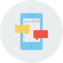 Mobile Message Communication Icon