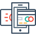Mobile Online Secure Icon