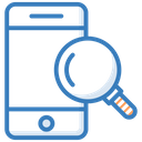 Mobile Search Magnifier Magnifying Lens Icon