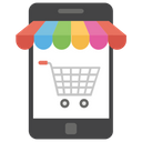 Mobile Shopping Online Shopping E Commerce Icon