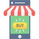 Mobile Shopping Shopping App Online Shopping Icon