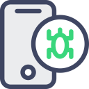 Mobile Smartphone Virus Icon