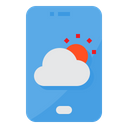Mobile Weather Application Icon