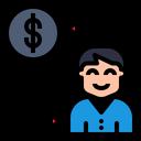 Money Change People Icon