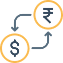 Rupee Dollar Currency Icon