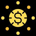 Money Flow Crowfunding Funding Icon