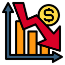 Graph Business Down Arrow Icon
