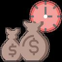 Money Management Time Clock Icon
