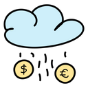 Cashback Money Rain Finance Icon