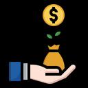 Money Saving Revenue Money Icon