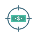 Target Dollar Money Icon