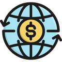 Money Transfer Banking World Icon
