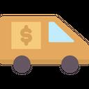 Money Truck Transportation Bank Icon