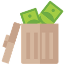 Money Wastage Cash Wastage Spending Money Icon