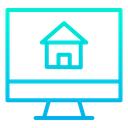 Online Selling Home Online Selling House Advertising Of Home Icon