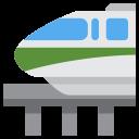 Monorail Overbridge Train Icon