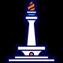 Jakarta City Landmark Icon
