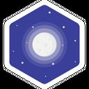 Moon Full Night Icon