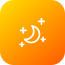 Moon Half Night Icon
