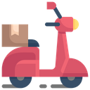 Motorcycle Delivery Icon