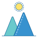 Mountain Mount Hiking Icon