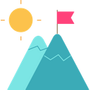 Mountain Nature Landscape Icon