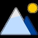 Mountain Hill Rocky Icon