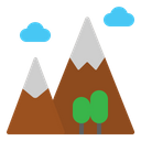 Mountains Travel Nature Icon