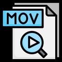 Mov File File Folder Icon