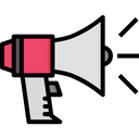 Movie Promotion Megaphone Bullhorn Icon