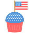 Usa Flag Independence Day Icon
