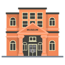 Museum Building Exhibition Icon