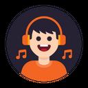 Music Listen Headphone Icon