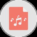 Music File Music Album Sound Track Icon