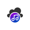 Music Web Cloud Music Online Music Icon