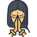 A Namaste Welcome Icon