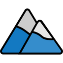 Travel Filled Nature Mountain Icon
