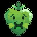 Nauseated Strawberry Sick Icon