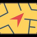 Navigation Map Gps Icon