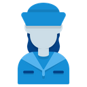 Navy Avatar Woman Icon