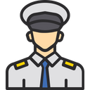 Navy Captain Captain Officer Icon