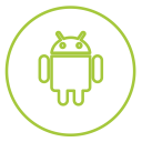Android Neon Line Icon
