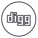 Digg Neon Line Icon