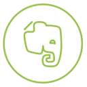 Evernote Neon Line Icon