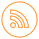 Rss Feed Neon Icon