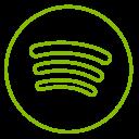 Spotify Neon Line Icon